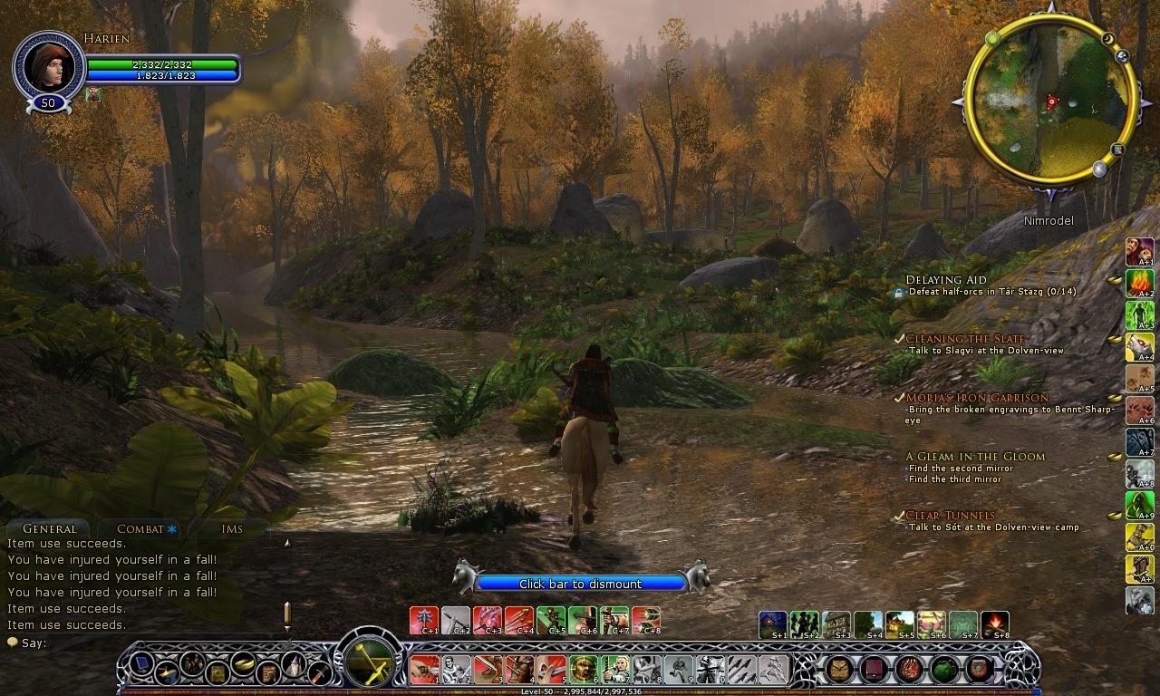 Seigneur des Anneaux Online - Les Ombres d'Angmar interface