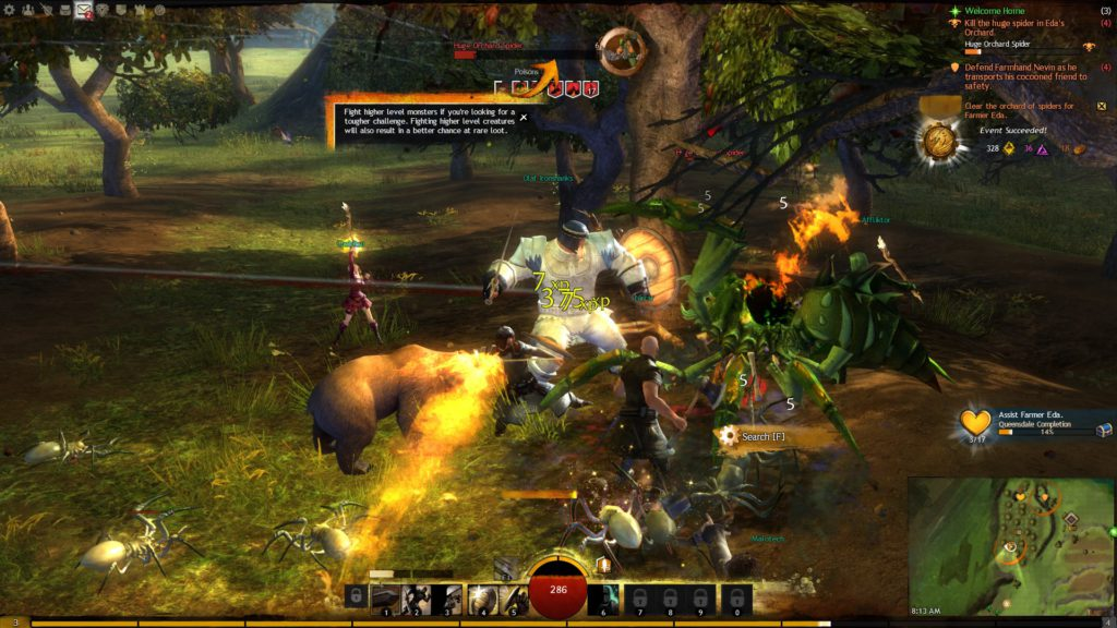 Guild Wars 2 interface