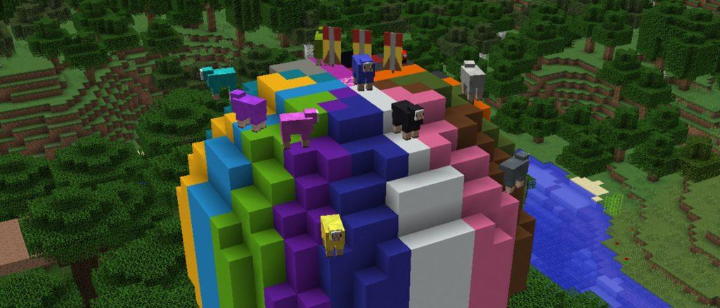 Minecraft blocs colorés